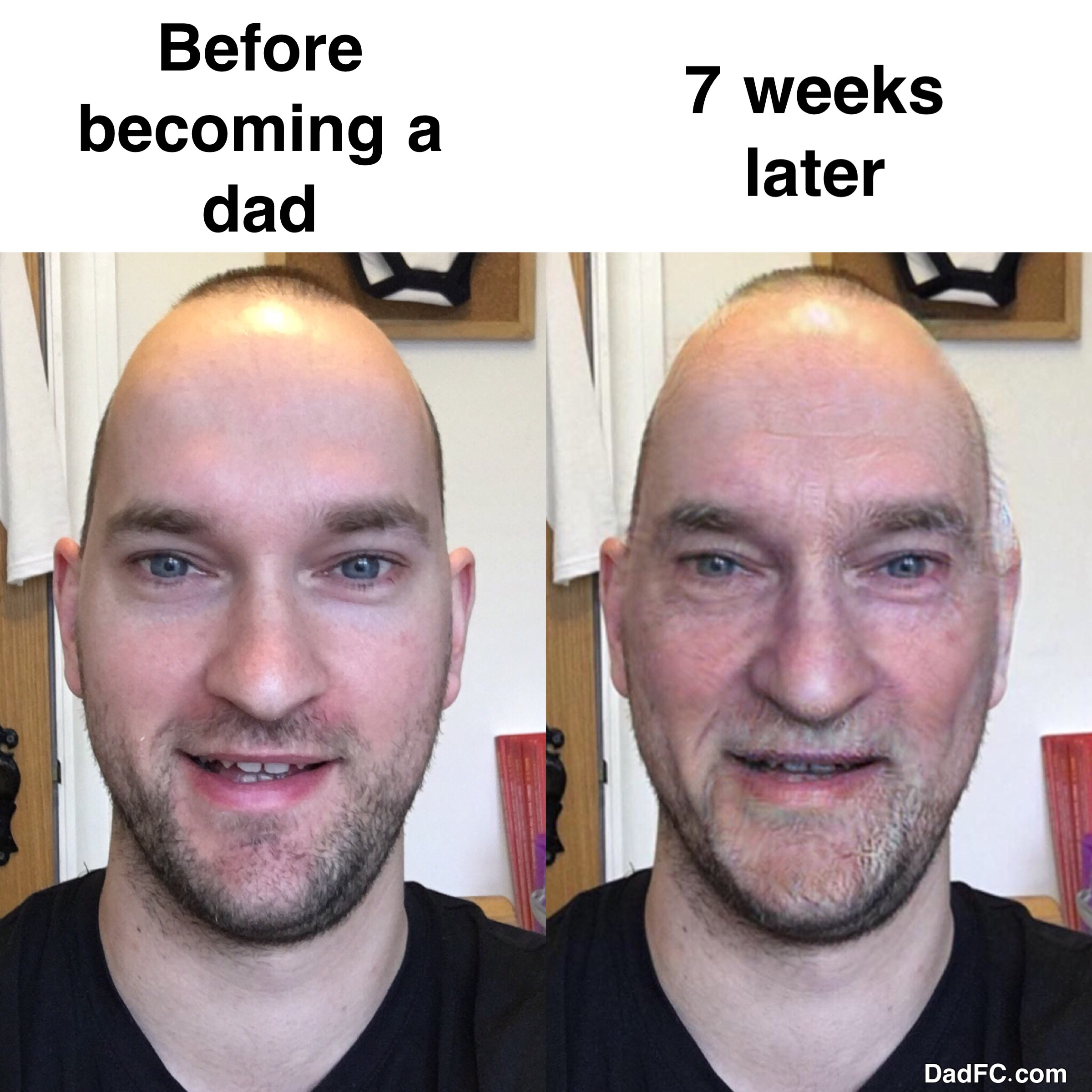 Rev up the signs of ageing. Become a dad.
