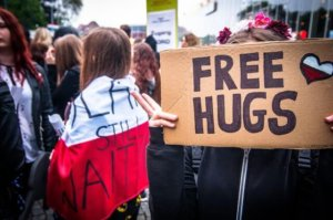 free hugs - there are more lovely people than horrible people in the world
