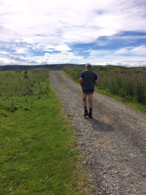 Dad Mark strips to his boxers after his trousers get soaked in a bog